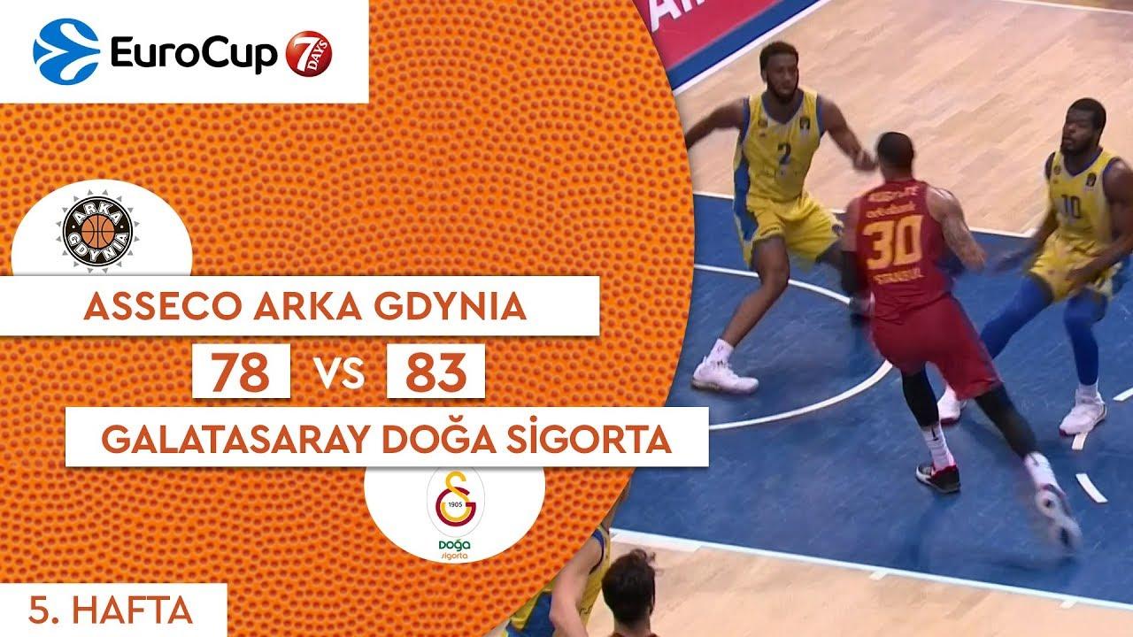 Asseco Arka Gdynia 78 - 83 Galatasaray Doğa Sigorta | Maç Özeti - EuroCup 5. Hafta