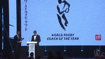 Erasmus accepts World Rugby Coach of the Year award