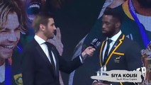 Siya Kolisi accepts World Rugby Team of the Year award for South Africa