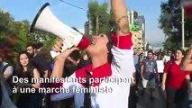 Marche féministe à Beyrouth en soutien aux protestations