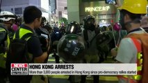 More than 3,000 arrested in Hong Kong since pro-democracy protests began