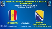 ANDORRA / BOSNIA-HERZEGOVINA - RUGBY EUROPE CONFERENCE 2 SOUTH 2019/2020