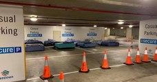 En Australie, des lits sont mis à disposition sur des places de parking vides pour accueillir les sans-abri