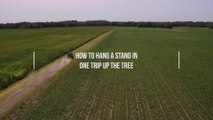How to Hang a Treestand—In One Trip Up the Tree