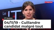 JT breton du lundi 4 novembre 2019 : Cuillandre candidat malgré tout