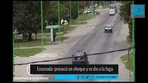 Provocó un choque en Camino Rivadavia y se fugó a toda velocidad