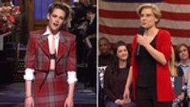 'SNL' Rewind: Kristen Stewart Returns to Host Variety Show, Sketches Highlight Political Issues | THR News