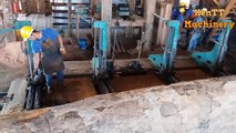 Amazing Big Wood Sawmill Machines Working, Extreme Easy Cutting Big Tree Chainsaw Machines