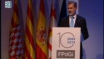 """Felipe VI: """"Ni la violencia ni la intolerancia pueden tener cabida en Cataluña"""""""