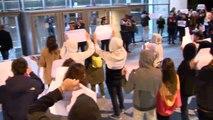 """Gritos de """"traidores"""" en un mitin de ERC en Girona"""