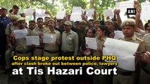 Delhi cops stage protest outside Police HQ