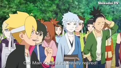 Genin Exam  Kakashi vs Boruto and Team (English Sub)