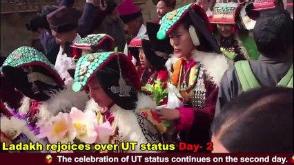MP Jamyang Tsering Namgyal dances with Ladakh natives