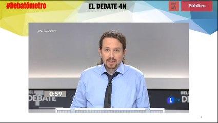 El 'minuto de oro' de Pablo Iglesias, en el #Debatómetro