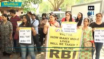 PMC Bank holders protest outside RBI office in Mumbai