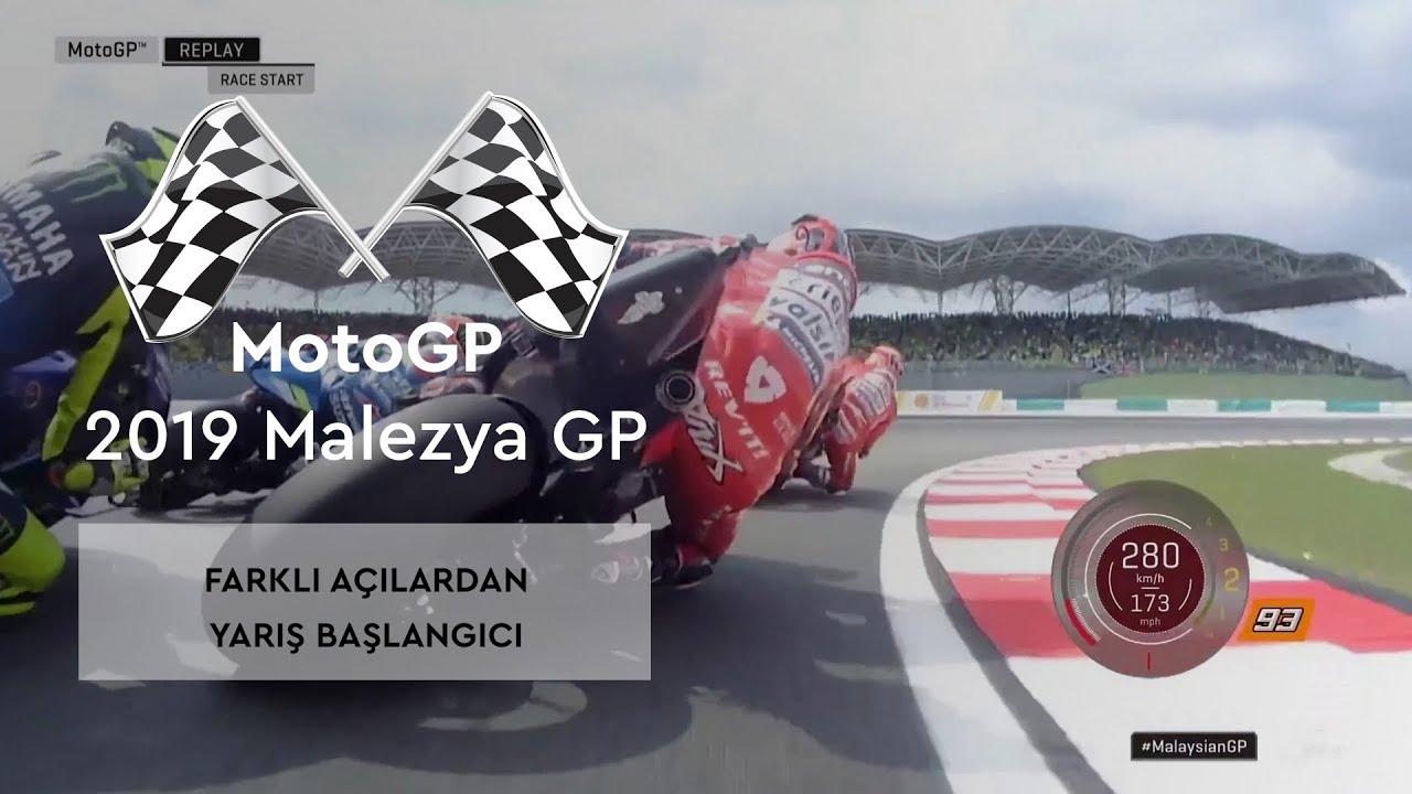Farklı Açılardan Yarış Başlangıcı (MotoGP 2019 - Malezya Grand Prix)