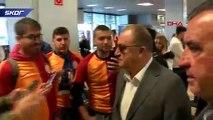 Galatasaray'ı Madrid'de taraftarı karşıladı