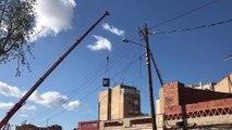 Badalona (Barcelona) empieza a derribar el edificio con aluminosis