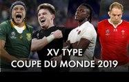 La composition type de la Coupe du Monde de Rugby 2019