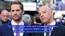 Vin Diesel Writes to Paul Walker's Daughter on Her 21st Birthday