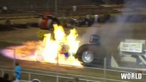 amazing tractor pulling blowing engine - super tractor