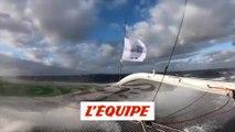 À bord de Sodebo Ultim 3 - Voile - Brest Atlantiques