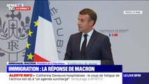 """Emmanuel Macron sur la mise en place de quotas: """"Le président n'a pas à commenter les états d'âme des ministres"""""""