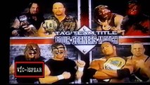 Stone Cold & The Undertaker Vs Kane & Mankind Vs The Rock & D'Lo Brown Vs The New Age Outlaws  - WWF Español Latino - Superstars Parte 72