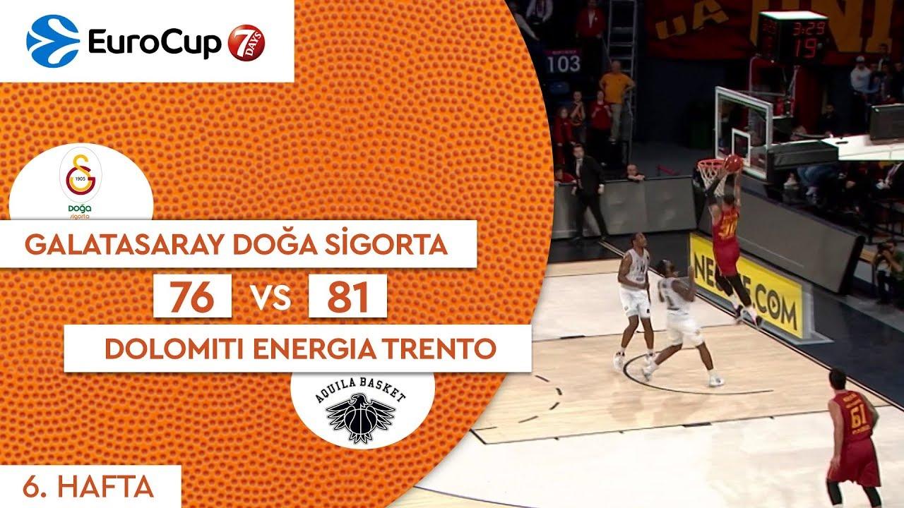 Galatasaray Doğa Sigorta 76 - 81 Dolomiti Energia Trento | Maç Özeti - EuroCup 6. Hafta