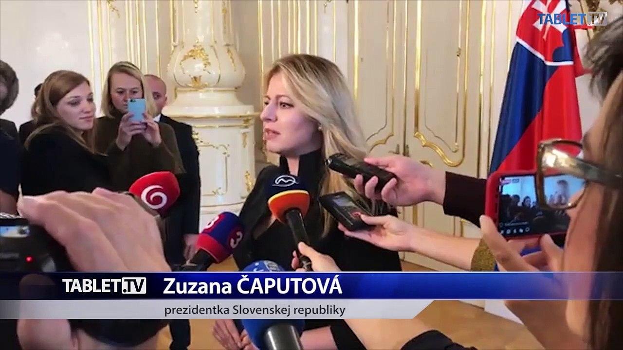 ZÁZNAM: Brífing prezidentky Z. Čaputovej
