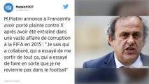 Fifa. Michel Platini se dit victime «d'un complot»