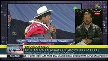 Bolivia:pdte. Evo Morales agradece apoyo del pueblo ante plan golpista