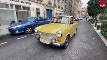 VIDÉO - 30 ans après la chute du Mur, ils vont faire Paris-Berlin en Trabant : trajet avec Claude Martin, possesseur d'une Trabant 601 Luxe