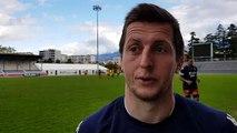 vidéo Jérémy Valençot (FCG) après Vannes et avant Béziers - 05112019