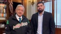 AMLO y José Urquidy se reúnen en Palacio Nacional