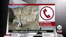 En Tultepec hallan trampas para cazar mamuts