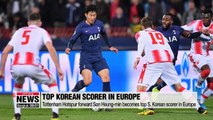 Tottenham Hotspur forward Son Heung-min becomes top S. Korean scorer in Europe