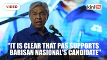 Zahid: PAS does not support Berjasa's candidate reupload
