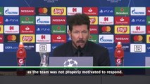 Simeone takes responsibility for poor Atletico start