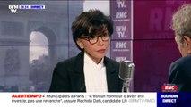 """Aide au logement: Rachida Dati promet """"un geste très fort"""" pour les classes moyennes et les familles si elle est élue maire de Paris"""