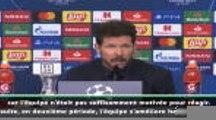 """Groupe D - Simeone : """"Je suis le premier responsable"""""""
