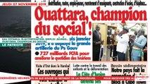 Le Titrologue du 07 Novembre 2019 : Eau potable, électrification, emploi jeunes… Ouattara, champion du social