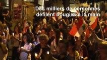 Liban: veillée aux chandelles en soutien au mouvement de contestation