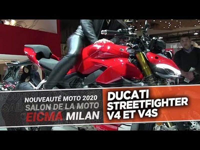 DUCATI STREETFIGHTER V4 et V4S - Salon EICMA Milan 2019