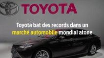 Toyota bat des records dans un marché automobile mondial atone