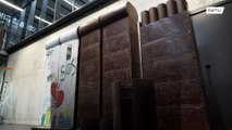 Destroy and eat a giant CHOCOLATE WALL to commemorate the fall of the Berlin Wall? Yes please