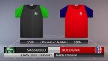 Match Preview: Sassuolo vs Bologna on 08/11/2019