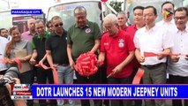 DOTr launches 15 new modern jeepney units