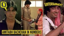 Looking Back at Amitabh Bachchan's Reel Life in Numbers