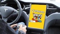 On a joué à Cuphead dans une Tesla Model S